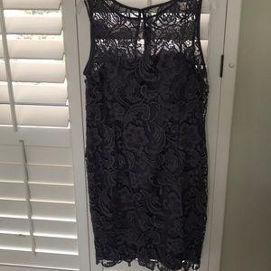 Beautiful gray lace evening dress